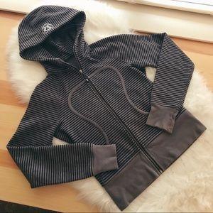 lululemon athletica scuba hoodie striped size 4